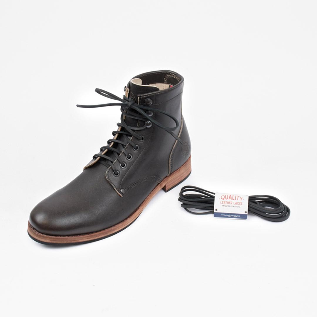 Shoelaces Leather Black