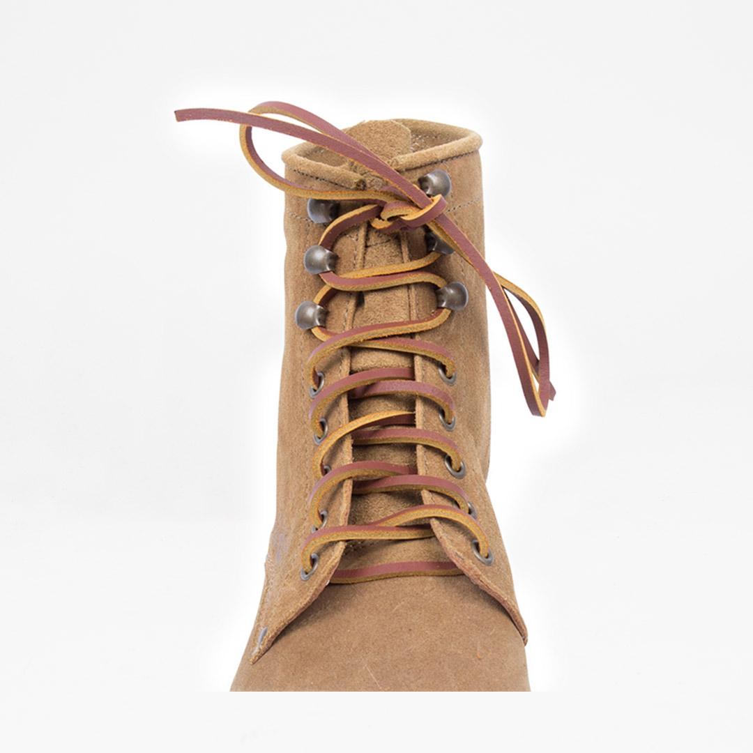 Shoelaces Leather Cognac