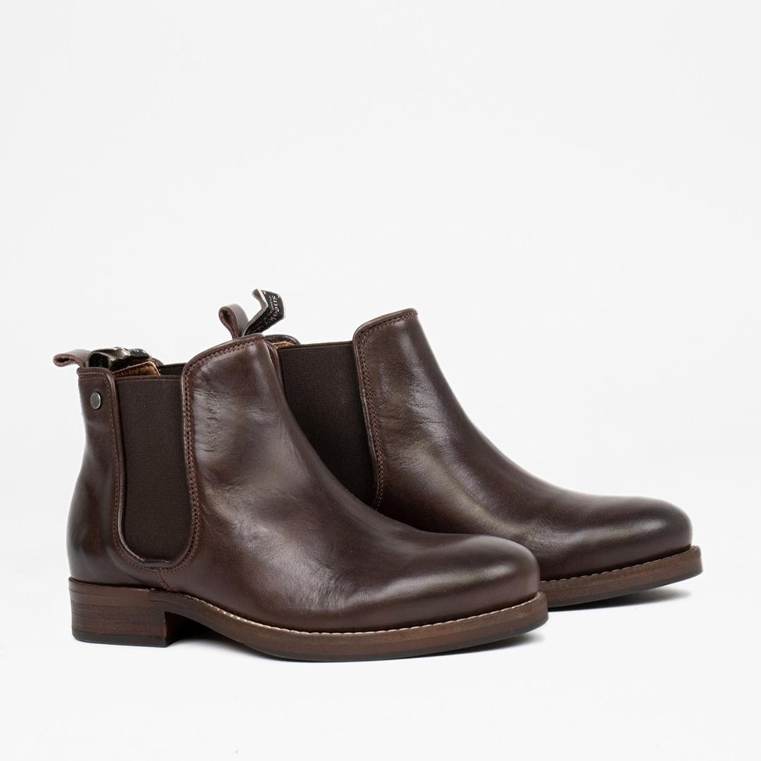 Style: Halligan W SMU Leather BROWN